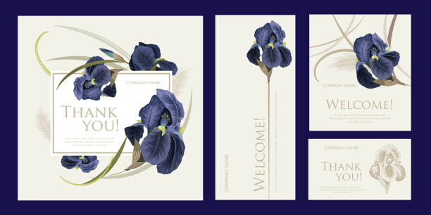 a set of luxury cards with the words of gratitude - thank you background stock illustrations
