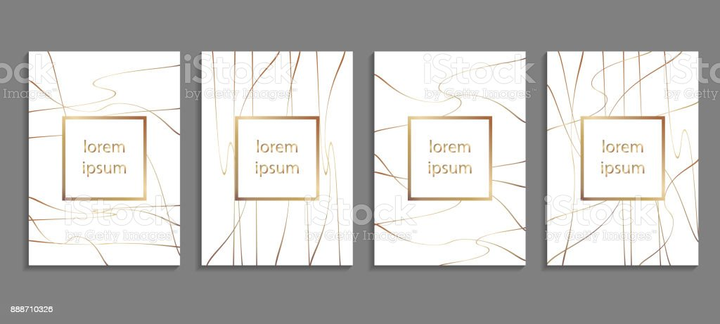 Set of luxury cover templates. Vector cover design for placards, banners, flyers, presentations and cards vector art illustration
