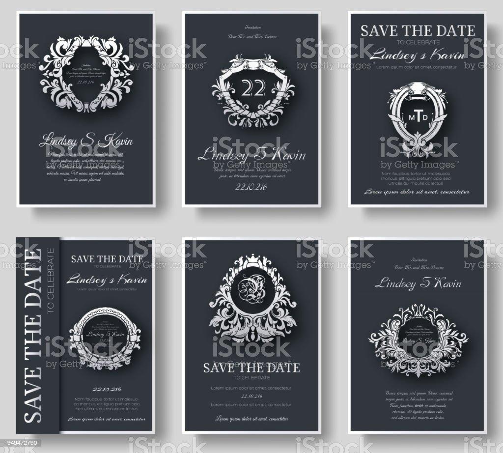 高級チラシ シンボル飾りイラスト概念でページ設定のセットします。ヴィンテージ アート、伝統的なイスラム教、アラビア語、インドの要素を備えた。ベクトル レイアウト装飾的なレトロなグリーティング カードや招待状のデザイン ベクターアートイラスト
