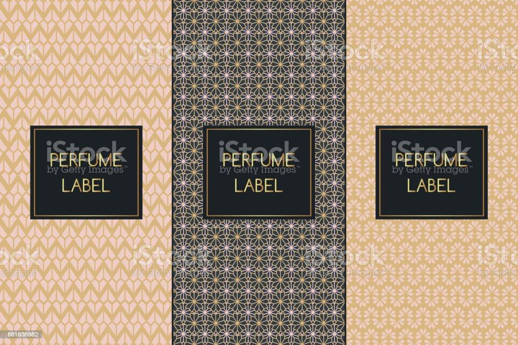 Set of luxury patterns vector seamless