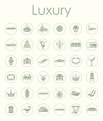 Set of luxury simple icons