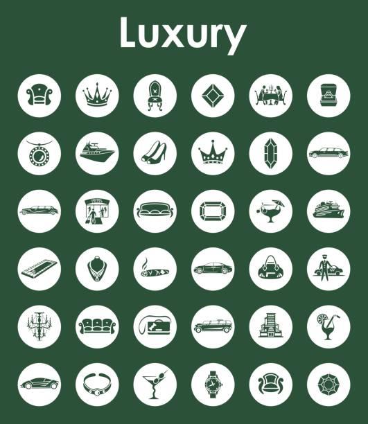 satz von luxus einfache symbole  - funktionssofa stock-grafiken, -clipart, -cartoons und -symbole