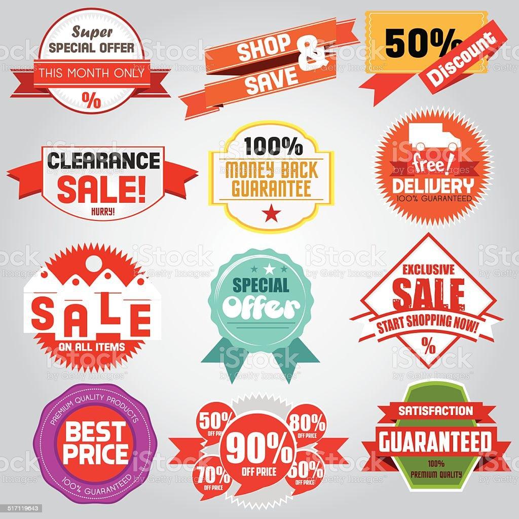 Reihe von Luxus-Abzeichen und Etiketten-Verkauf bestseller – Vektorgrafik