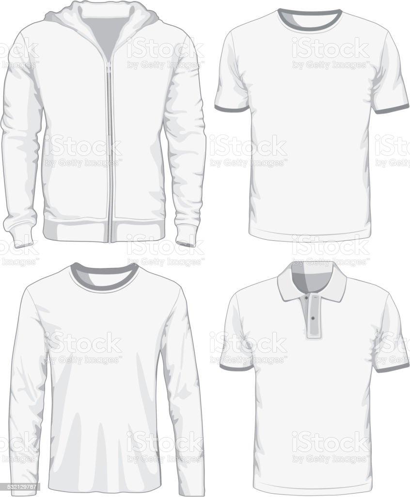 Set of male shirts. Vector illustration vector art illustration