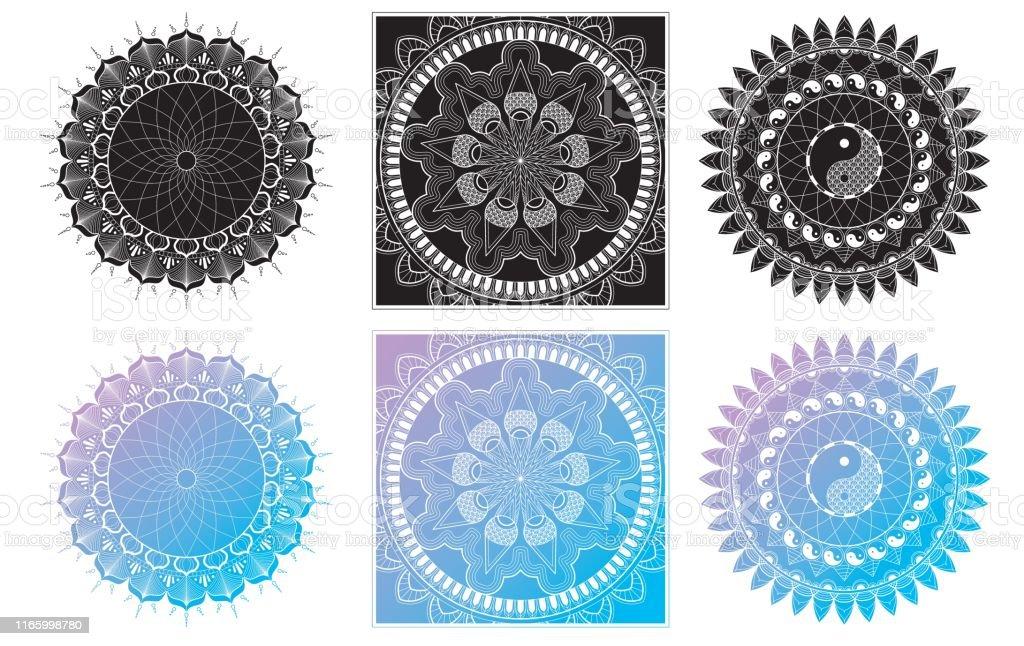 Mandala Kleurplaten Boek.Set Van Mandala Kleurplaat Voor Volwassen Ontspanning