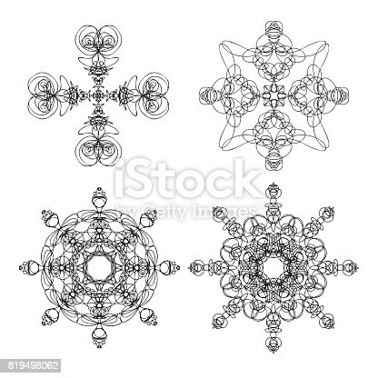 istock Sacred Geometry Forms with Eye, Moon and Sun 593325134 ...