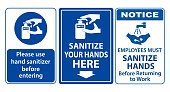 set of mandatory sign or warning sign corona virus poster or 2019-ncov viruses   from wuhan city or wash your hand sign concept. eps 10 vector, easy to modify