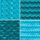 Set of Marine Patterns