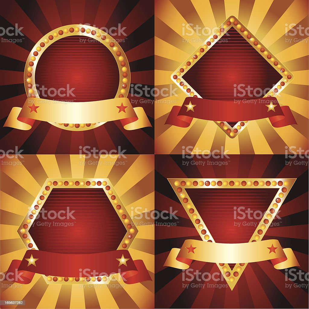 Set of Marquee Emblems vector art illustration