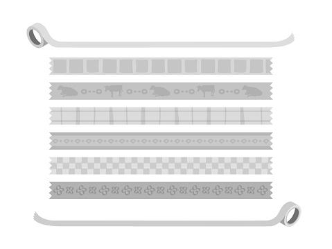 Set of masking tape-like material