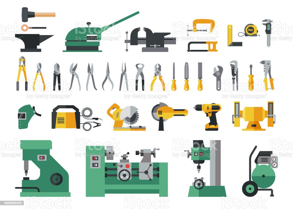Set Of Master Tools For Metal Stock Vector Art & More Images