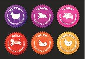Set of meat icons