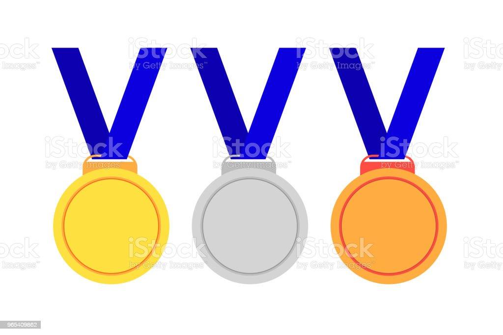 Set of Medals, First Second and Third Winner set of medals first second and third winner - stockowe grafiki wektorowe i więcej obrazów bez ludzi royalty-free