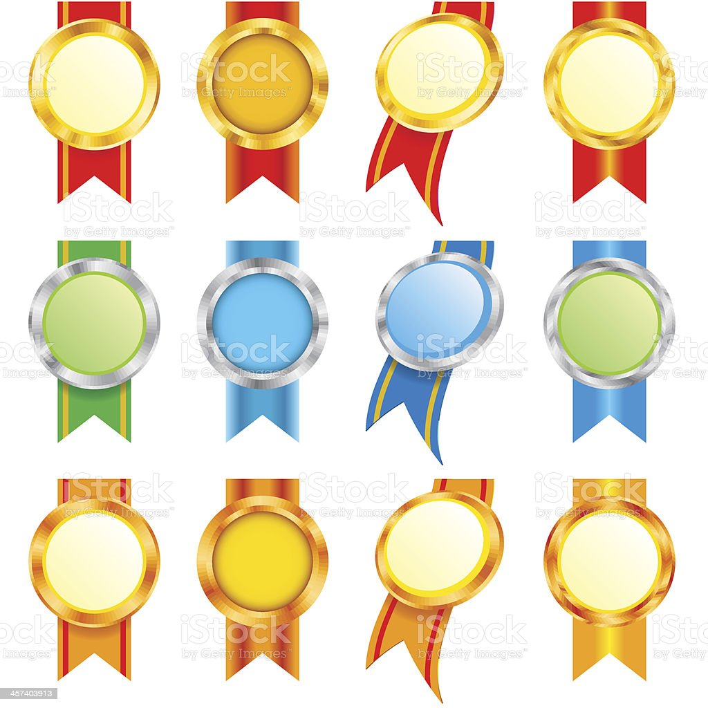 Set of Medals (eps8) royalty-free stock vector art