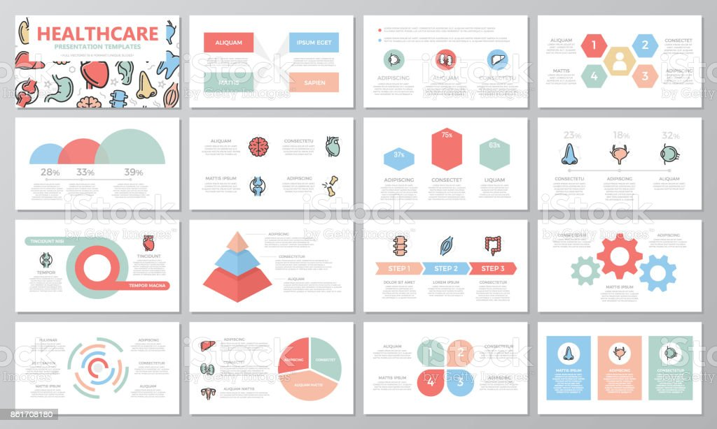 Set Of Medical And Healthcare Elements For Multipurpose ...
