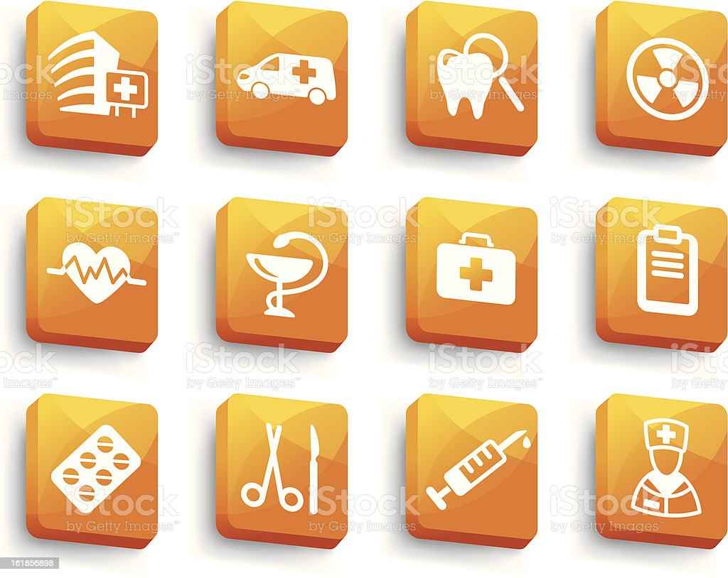 Set of medical buttons royalty-free stock vector art