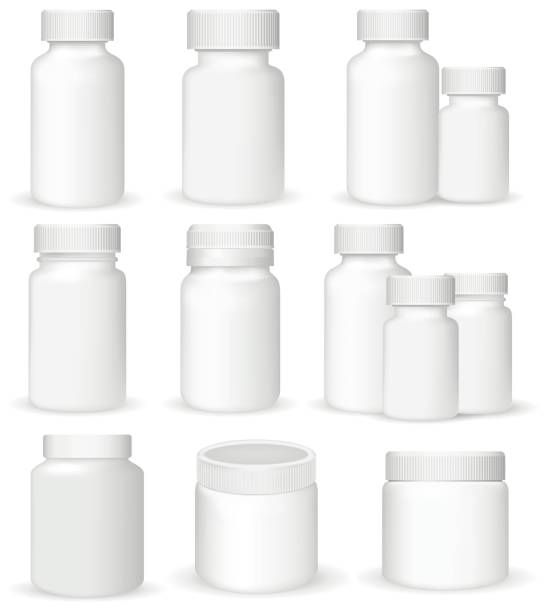 Set of medical containers, realistic vector illustration vector art illustration
