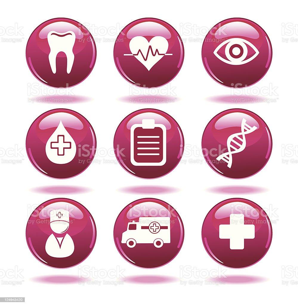 Set of medical icons. vector art illustration