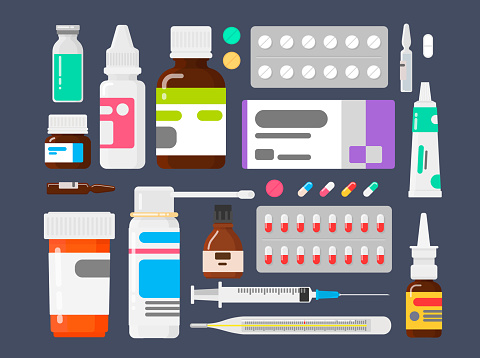 Medicine stock illustrations
