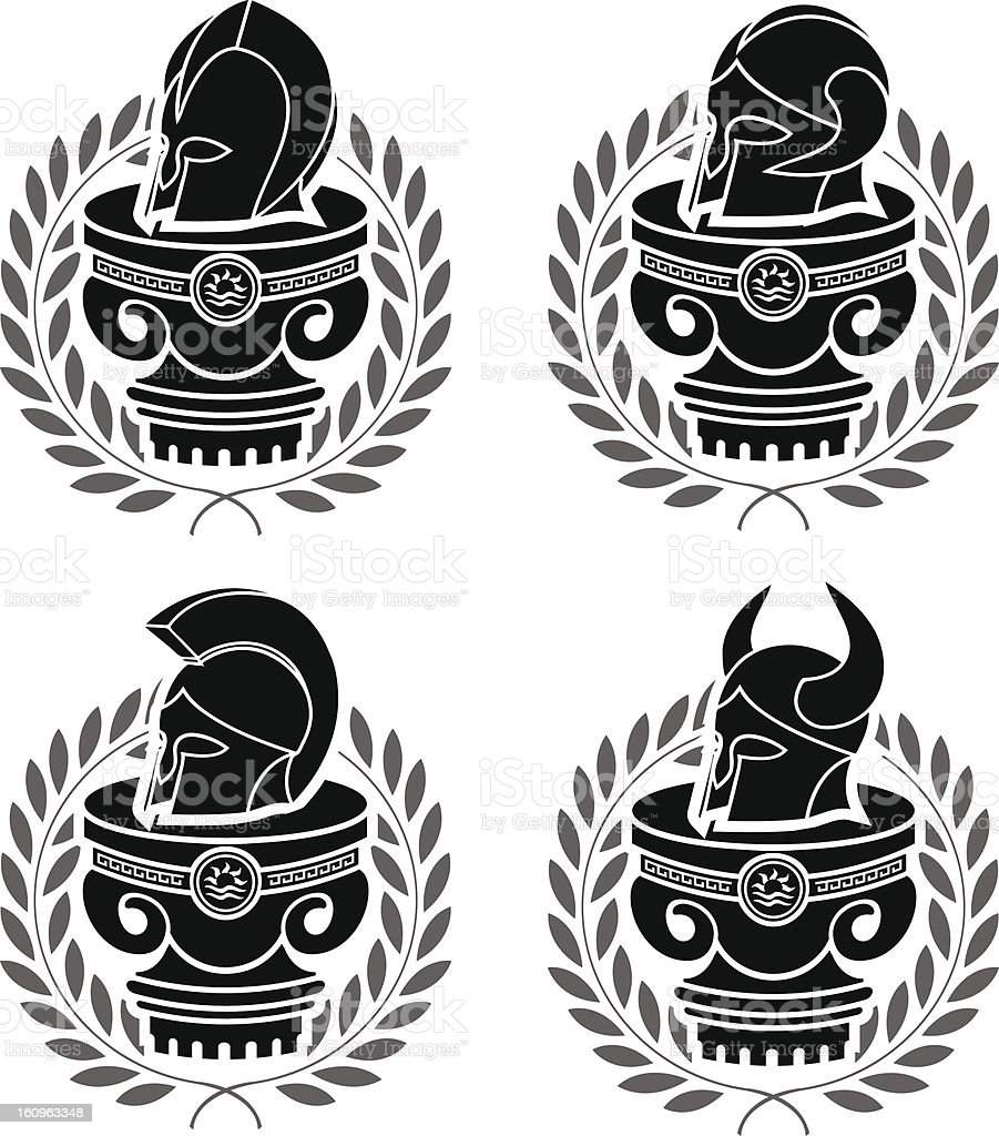 set of medieval helmets royalty-free set of medieval helmets stock vector art & more images of ancient
