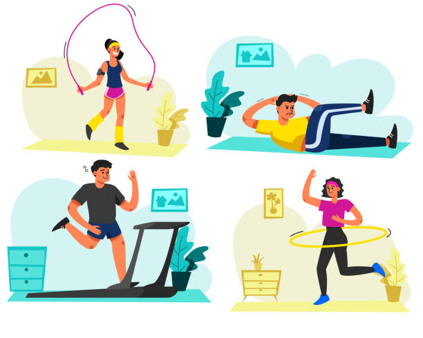 1 293 Home Workout Illustrations Royalty Free Vector Graphics Clip Art Istock Download 1,767 fitness woman free vectors. 1 293 home workout illustrations royalty free vector graphics clip art istock