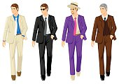 Set of Men In Different Suit