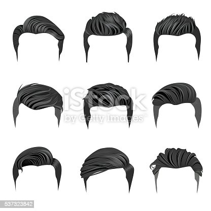 Set Of Mens Hairstyles Hipster Hair Stock Vector Art ...