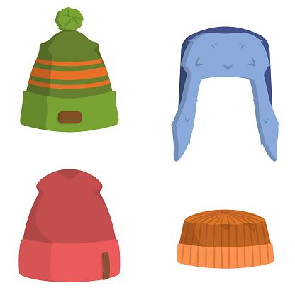 Set of men's hats.