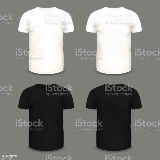 Set of mens white and black tshirts in front and back views vector id844459770?b=1&k=6&m=844459770&s=612x612&h=a64jbjoedsmex9ql8zqd 8ov8wa8wm30yopvqujm0dq=