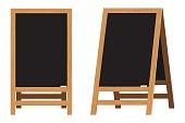Set of Menu Black Boards.Vector illustration