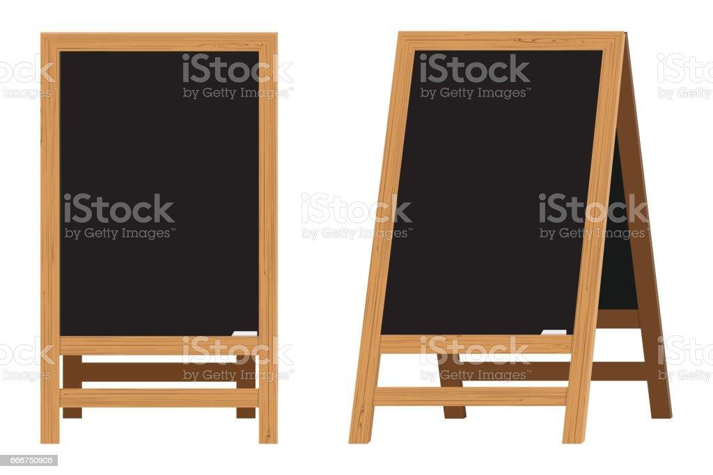 Ensemble de Menu noir Boards.Vector illustration - Illustration vectorielle
