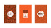 Set of menu cover, label and seamless pattern for bakery