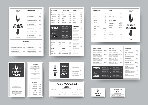 menu templates stock illustrations