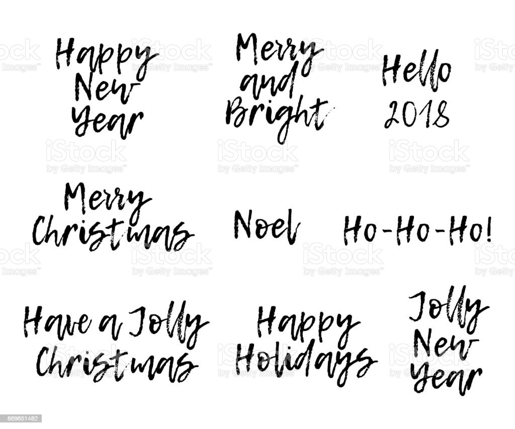 Set of merry christmas card with calligraphy text template for set of merry christmas card with calligraphy text template for greetings congratulations housewarming kristyandbryce Images