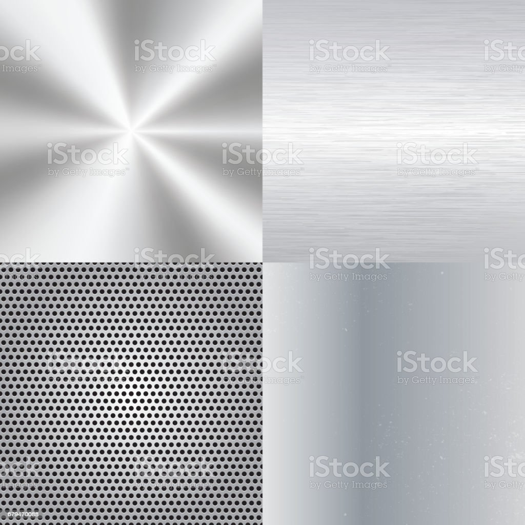 Set of metal background royalty-free set of metal background stock vector art & more images of abstract