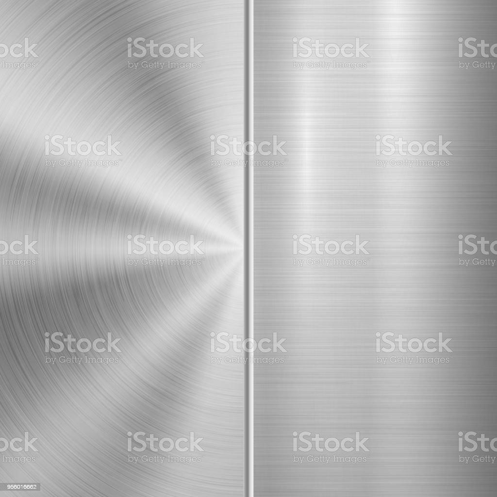 Set of Metal Textures vector art illustration