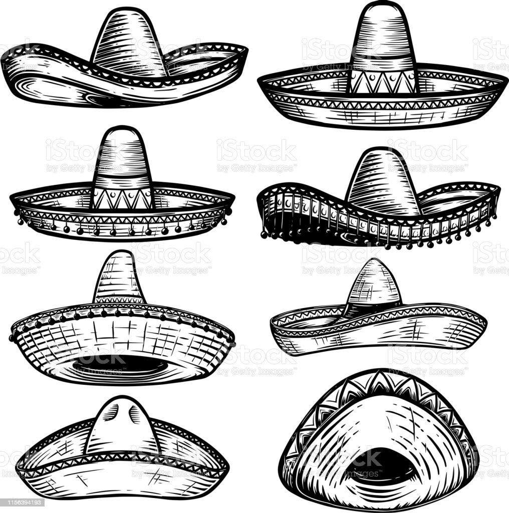 Mexican sombrero mustache icon, outline style. Mexican sombrero mustache  icon. outline mexican sombrero mustache vector icon