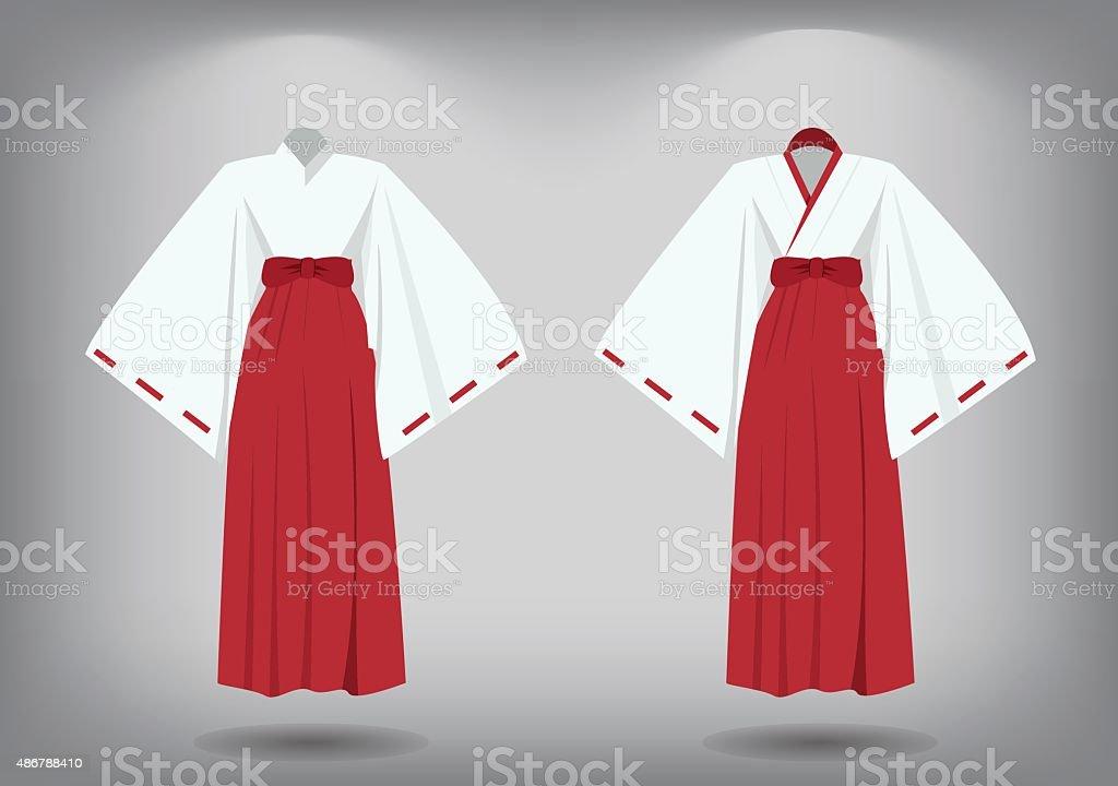 Satz Von Miko Anzug Traditionelle Japanische Kleidung Stock Vektor Art Und Mehr Bilder Von 2015 Istock