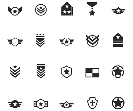 Set of Militory Badge and Symbols