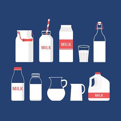 Set of milk.