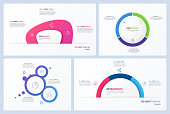 Set of minimal vector infographic templates. 3 options.