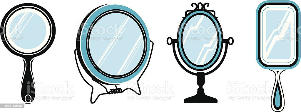 Set of mirrors royalty-free stock vector art