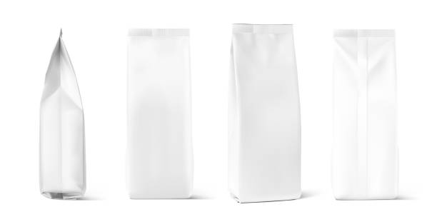 set of mock up bags isolated on white background. - torba stock illustrations