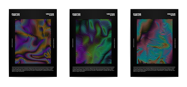 Set of modern abstract covers