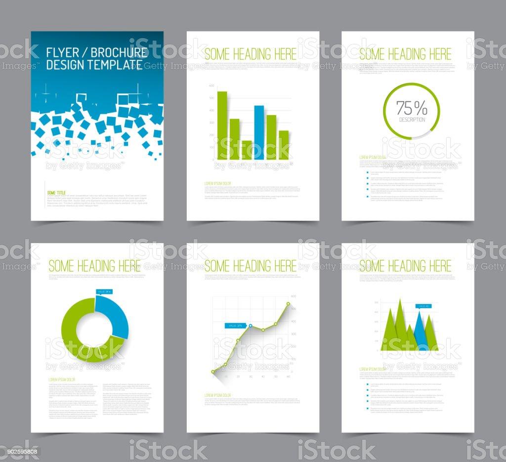 Set Of Modern Brochure Flyer Design Templates Stock Vector Art