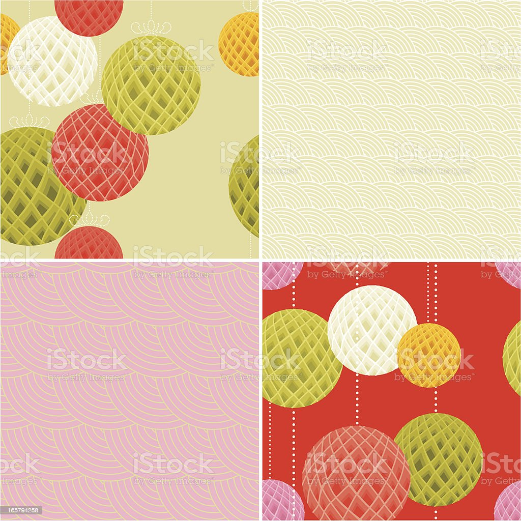 Set of Modern Chinese Patterns royalty-free set of modern chinese patterns stock vector art & more images of abstract