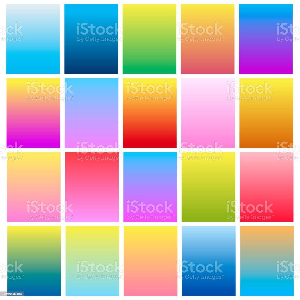 Set of modern colorful gradients for mobile app and website design. Vector. vector art illustration