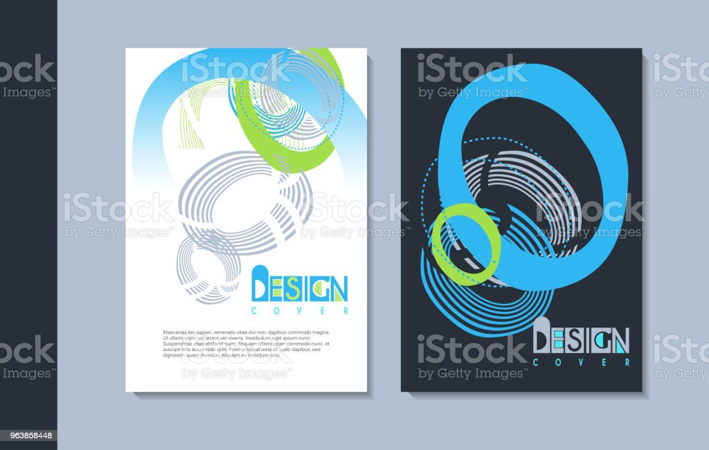A set of modern covers design. - Royalty-free Advertisement stock vector