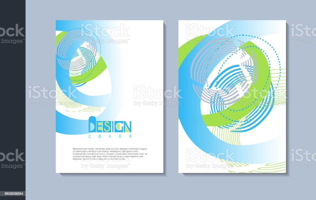 A set of modern covers design. - Royalty-free Advertisement stock illustration