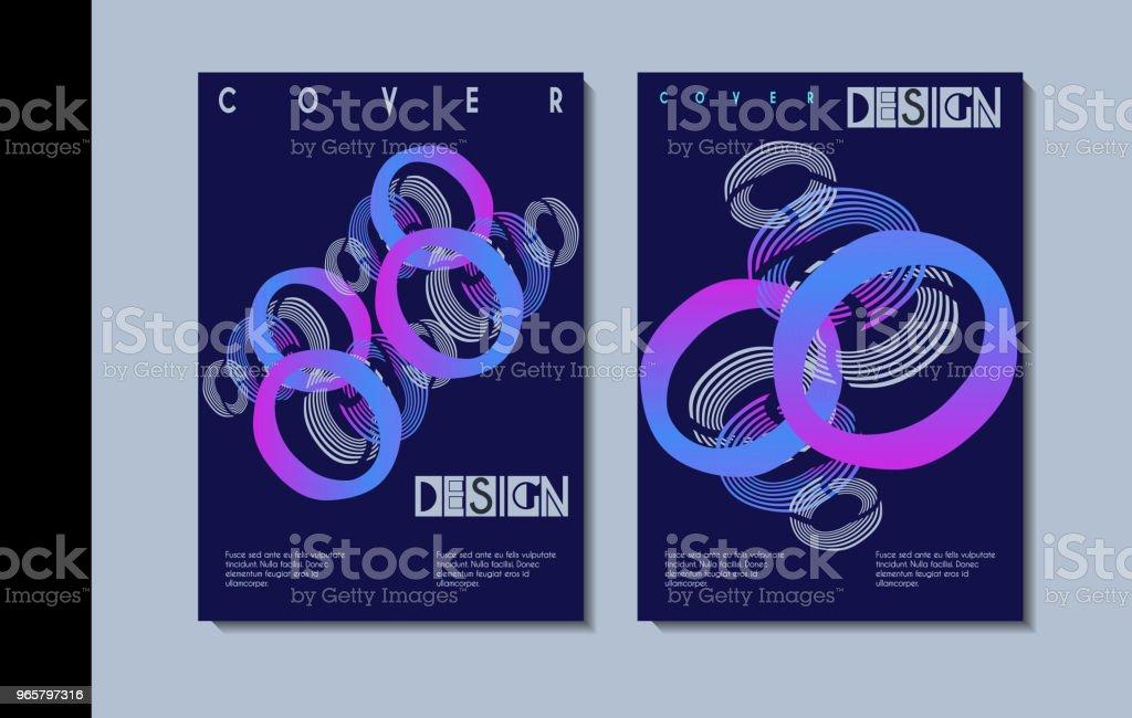 Een set van moderne omvat ontwerp. - Royalty-free Achtergrond - Thema vectorkunst